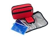 Большой красный термокейс с 2-мя аккумуляторами холода, с 3-мя отделениями и отдельным чехлом
