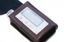 Кожаный чехол для инсулиновой помпы Медтроник MMT-715, MMT722, MMT-754 для ношения на ремне  М-1 коричневый
